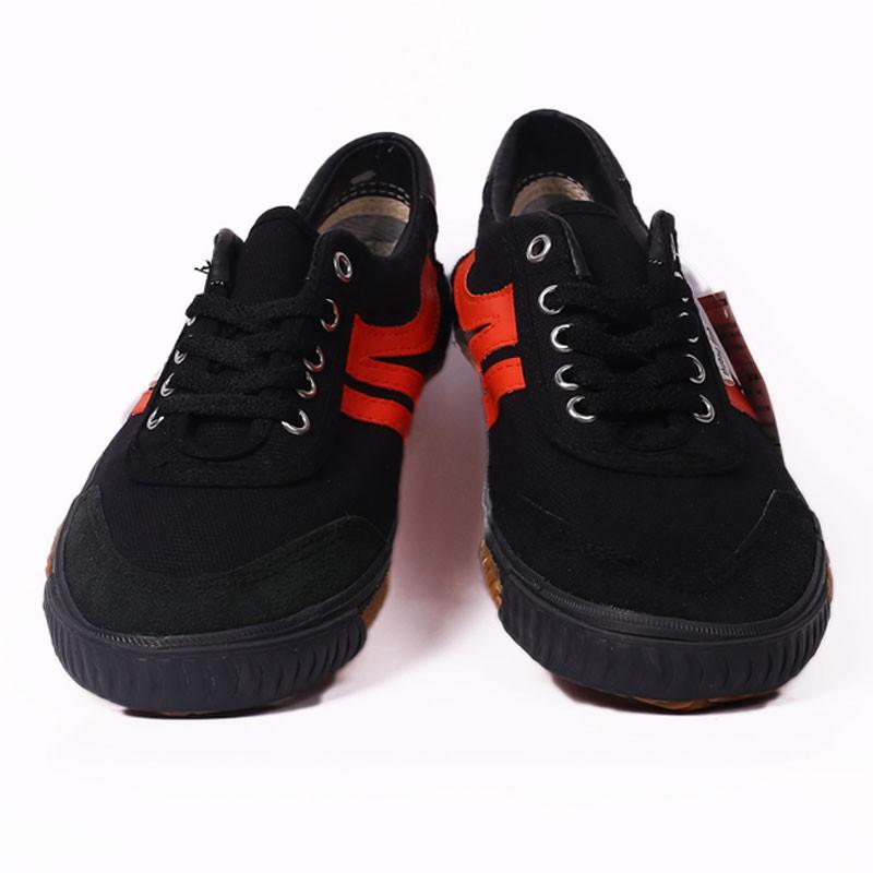 Giày bata Thượng Đình đen sọc đỏ