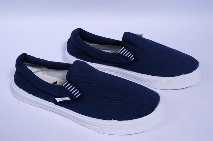 Giày vải Thượng Đình xỏ nam/ nữ xanh